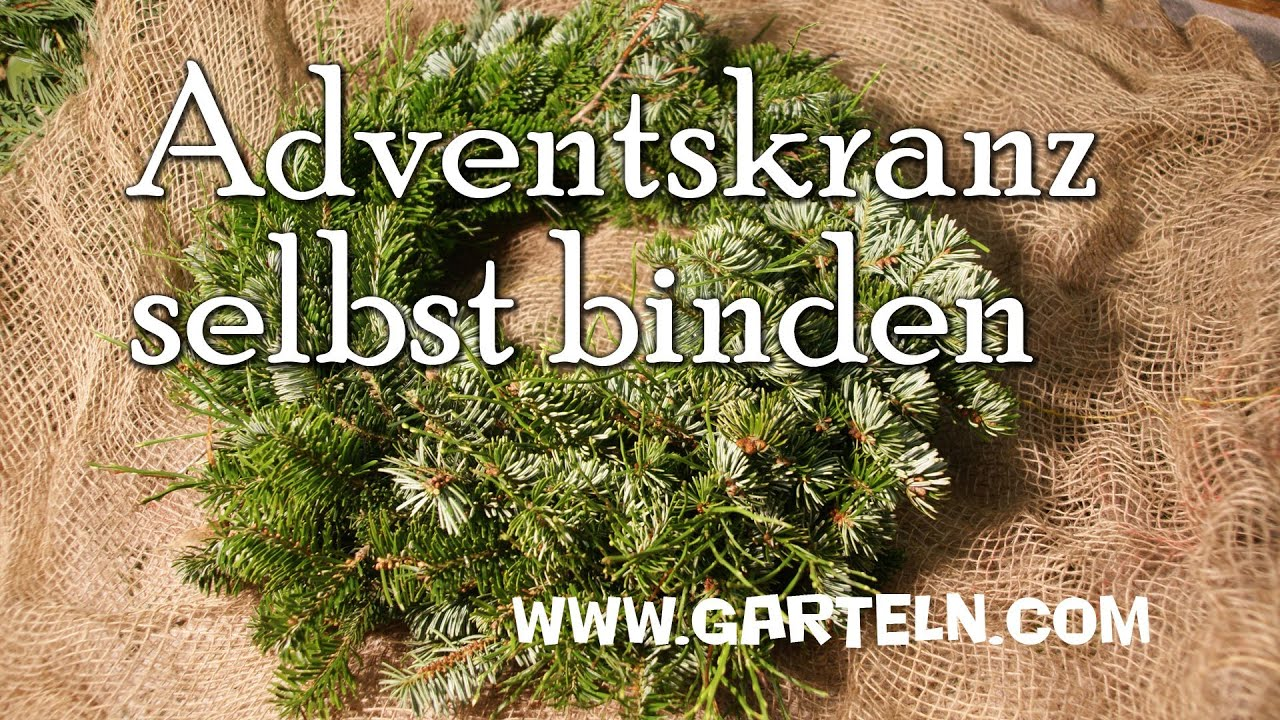 Adventskranz Selbst Binden Youtube