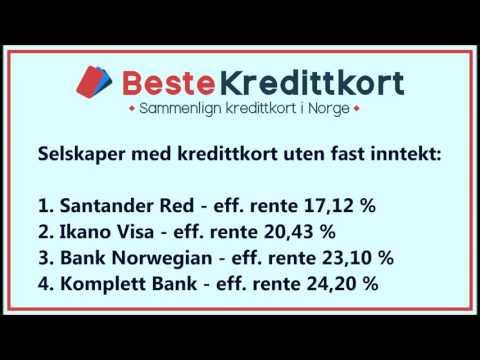 Kredittkort uten fast inntekt - Kredittkort uten jobb