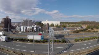 大阪モノレールの旅(4K) 山田駅 → 万博記念公園駅 進行方向左側