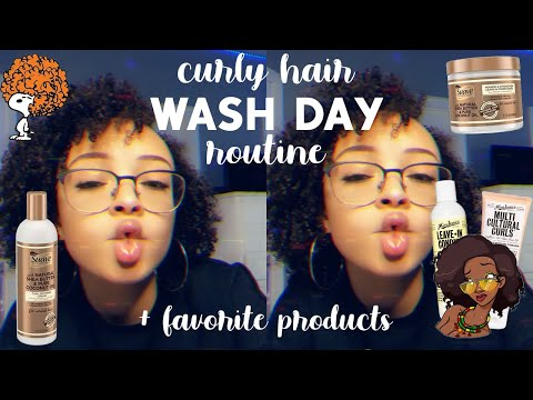 My CURLY Hair WASH DAY Routine! + My Favorite Curly Hair Products   aliyah simone