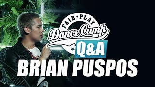 Q&A | Brain Puspos: 'I wanted to tell a story to song and dance' | Fair Play Dance Camp 2017
