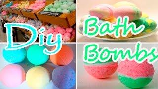 DIY: BATH BOMBS | БОМБОЧКИ ДЛЯ ВАННЫ СВОИМИ РУКАМИ(Привет, в этом видео вы узнаете как можно легко и просто сделать бомбочку для ванны своими руками из подручн..., 2016-05-10T10:26:25.000Z)