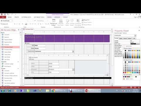 Point of Sale Complete Database in MS Access With Relational Database Part-2/4
