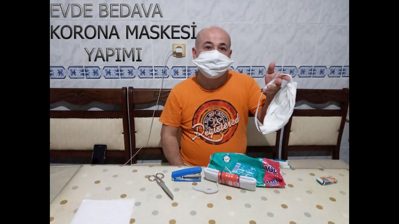 Evde Bedava Korona Maskesi yapımı(ÇOK KOLAY)!