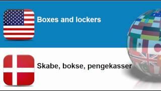 Lær engelsk #Tema = Pansrede eller forstærkede pengeskabe, bokse og døre