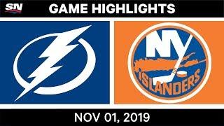 NHL Highlights   Lightning vs Islanders – Nov. 1, 2019