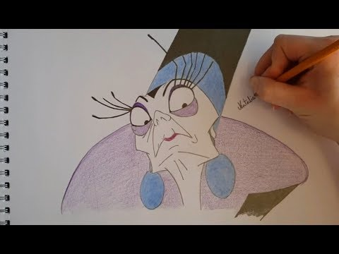 Disney Drawing Time-Lapse: Yzma from Disneys The Emperor's New Groove