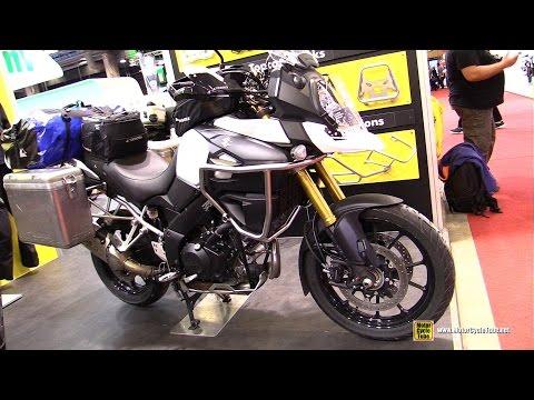 2016 Suzuki V Strom 1000 customized by Touratech - Walkaround - 2015 Salon Moto Paris