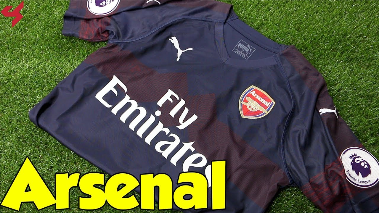 94ca0498fa2 Puma Arsenal Özil 2018 19 Away Soccer Jersey Unboxing + Review - YouTube