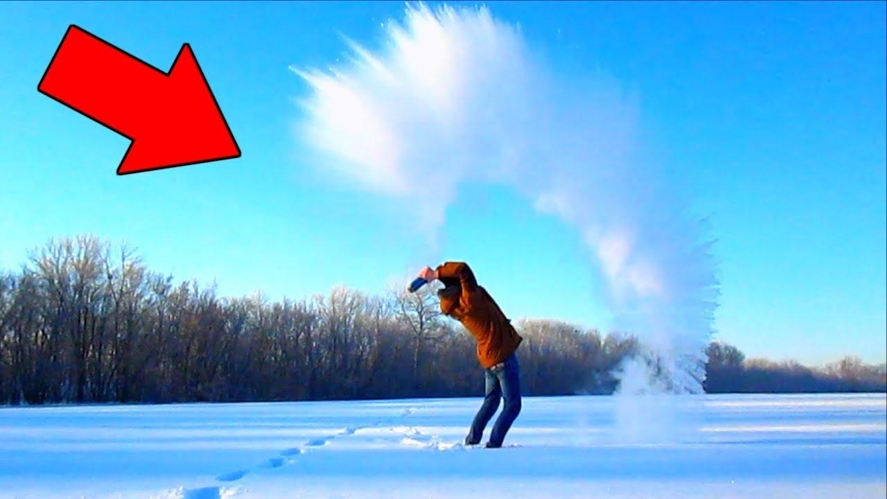 ПОВТОРЯЮ ТРЕНДОВЫЕ Instagram ФОТО /ШПАГАТ на снегу vs КИПЯТОК и МОРОЗ /ожидание реальность НАША МАША