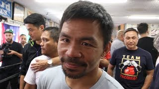 PACQUIAO GRINS AT THURMAN