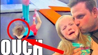 TODDLER TRAMPOLINE PARK FACEPLANT!