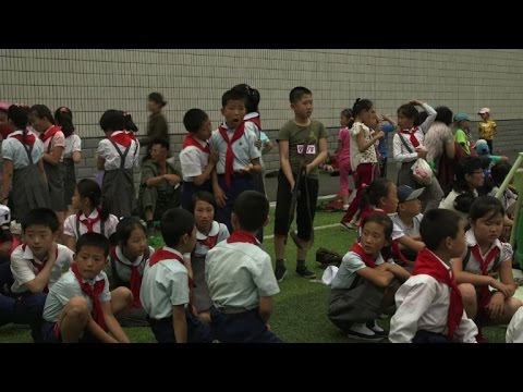 Lessons in armed loyalty as N.Korea celebrates children's day