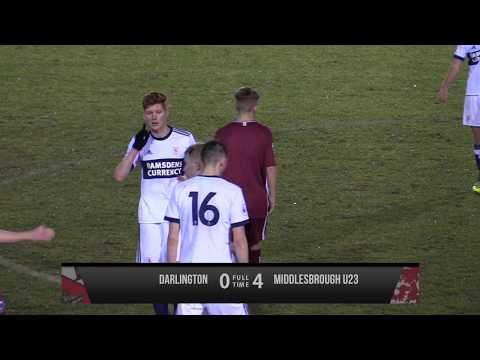 Darlington 0-4 Middlesbrough U23s - Friendly - 2017/18