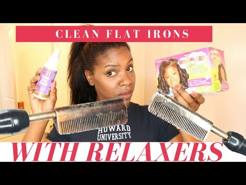 Beauty Hack: Clean Flat Irons Using a Relaxer