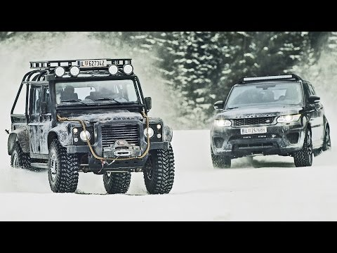 James Bond 'Spectre' Cars - Behind the Scenes - Jaguar C-X75, Range Rover SVR and Defender