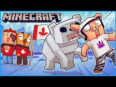 we went on a canadian adventure and found buried treasure... Minecraft ep 3