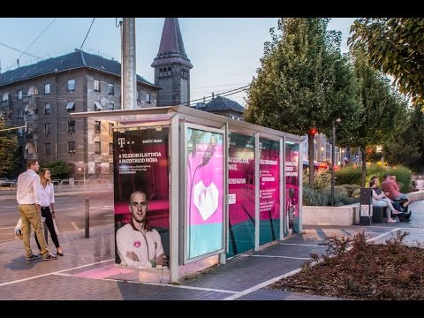 Magyar Telekom heartwarming bus shelters | JCDecaux Hungary