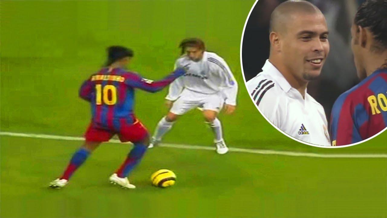 The Day Ronaldinho Destroyed Real Madrid of Ronaldo Phenomenon - YouTube