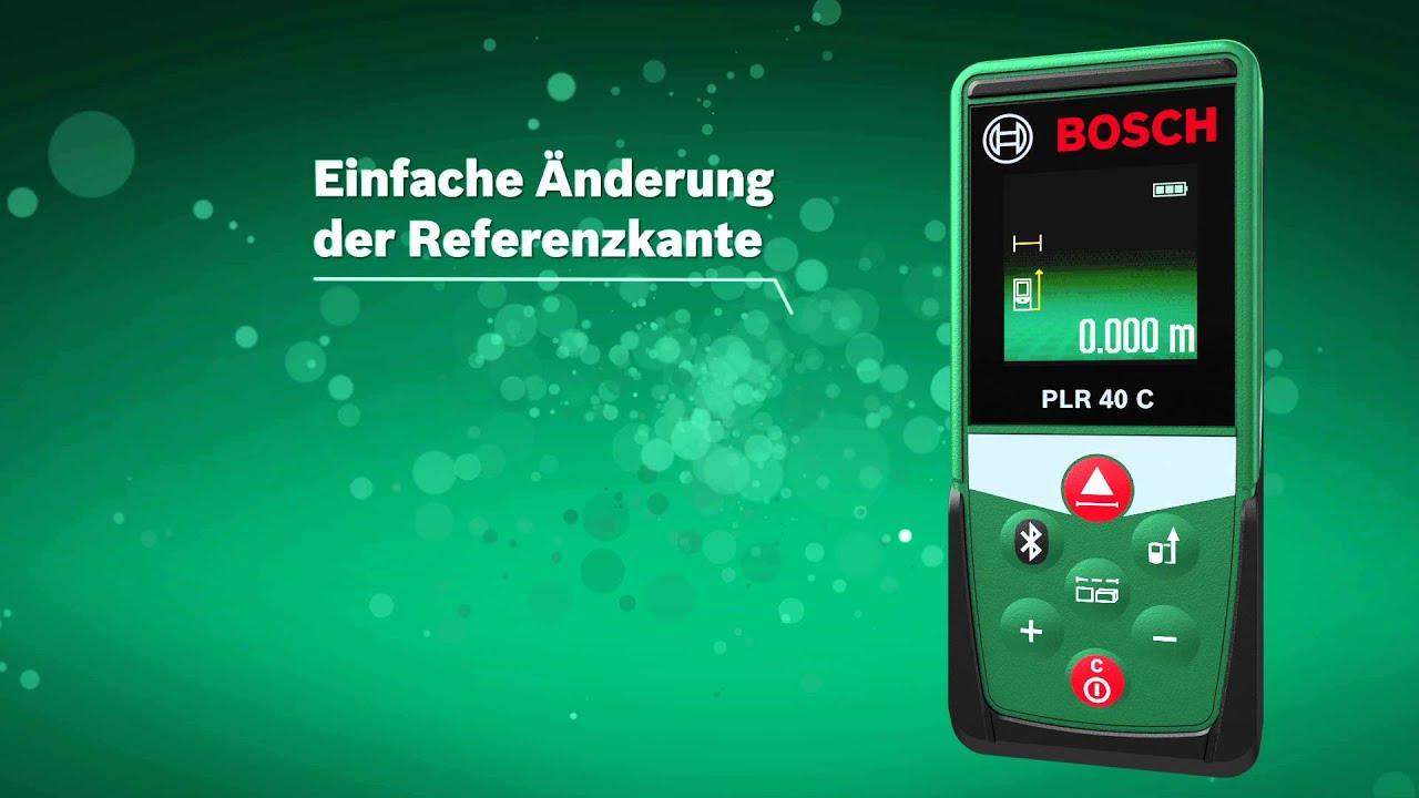 Bosch laser entfernungsmesser plr 40 c youtube