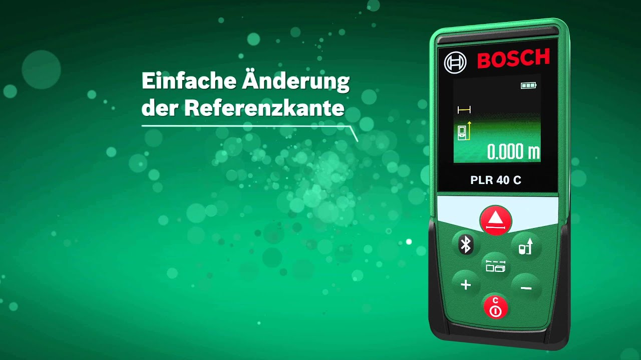 Bosch Diy Digitaler Laser Entfernungsmesser Plr 30 C : Bosch laser entfernungsmesser plr c youtube