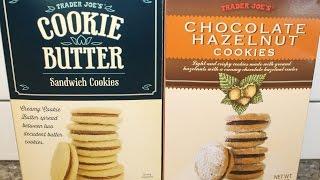 Trader Joe's Cookie Butter Sandwich Cookies & Trader Joe's Chocolate Hazelnut Cookies Review