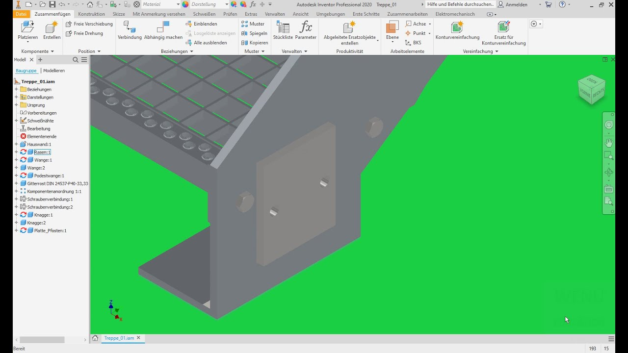 Download Inventor Tutorial Außentreppe Geländer