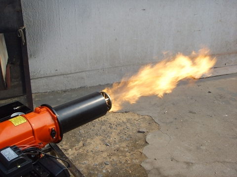 Waste Oil Burner Fire Flame Adjusting