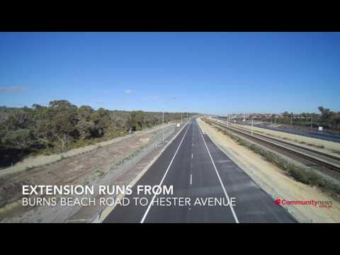 Drone footage of the new Mitchell Freeway extension