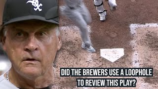 Runner misses home plate & Brewers use loophole to review it, a breakdown Thumb