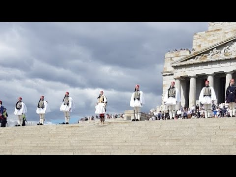 Greek National Day Parade at the Shrine of Remembrance 2018 with the Presidential Guard