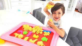 Zack play in sand fun activities for kids at home