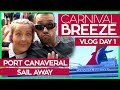 Carnival Breeze | Boarding, Sail Away Party & Cucina Del Capitano | Carnival Cruise Line Vlog Day 01