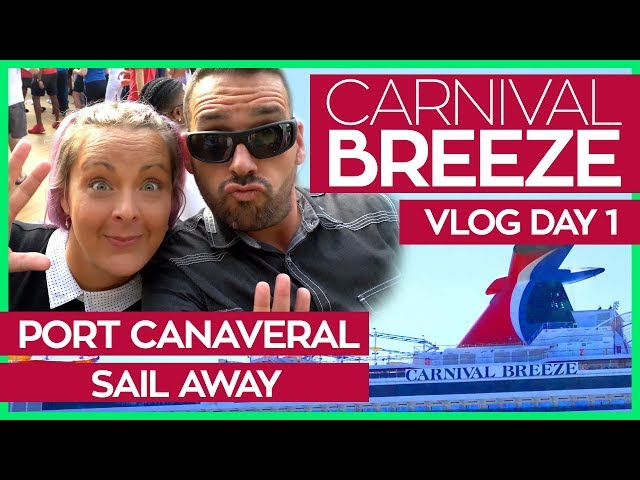 Carnival Breeze   Boarding, Sail Away Party & Cucina Del Capitano   Cruise Vlog Day 01