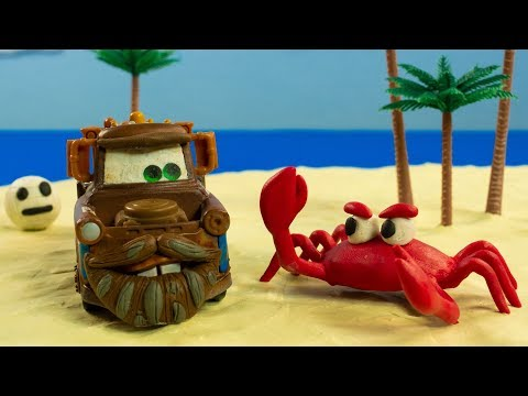 CAST AWAY MATER with friend WILSON the Volleyball Disney Cars Diecast Toys