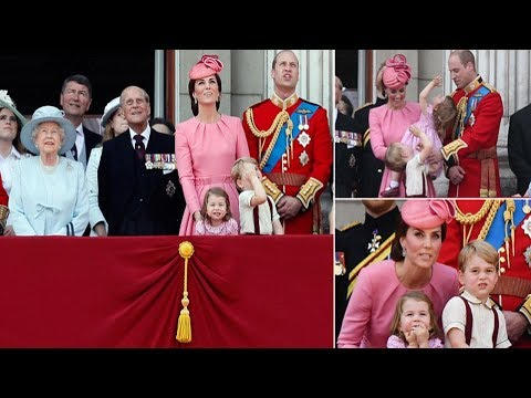 Prince George Princess Charlotte delight at Trooping the Colour parade to celebrate Queen's birthday