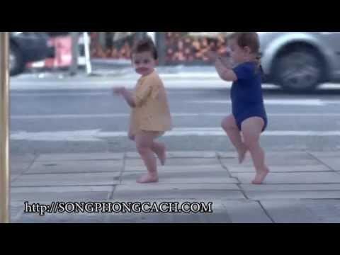 Quảng cáo siêu nhộn em bé nhảy Hiphop
