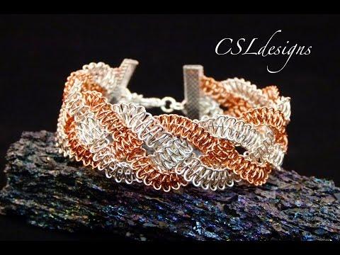 Braided wire macrame bracelet