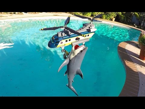 Shark eating helicopter