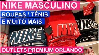 NIKE Moda MASCULINA Compras em ORLANDO Premium OUTLETS com PREÇOS no Viajar Muda Tudo!