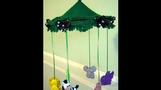 How To Make The Jungle Animals Crib Mobile 0001