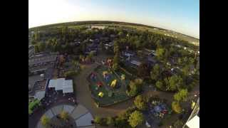 Quadcopter FPV Billund Denmark Legoland and Hotel shot with GoPro 3