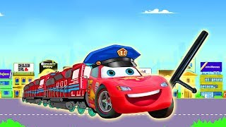Disney Cars 3 Lightning McQueen Police Car Learn Colors & Finger Family Rhymes Song for Children