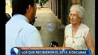 Vecinos recibieron el 2014 a oscuras - Telefe Noticias