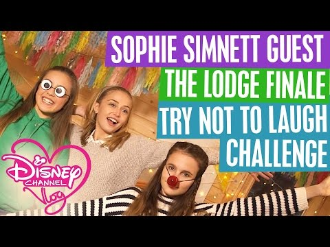 DISNEY CHANNEL VLOG  SOPHIE SIMNETT GUEST  THE LODGE FINALE  TRY NOT TO LAUGH CHALLENGE