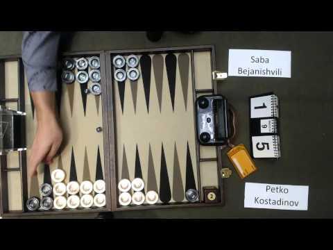 Carolina Backgammon R5 Saba Bejanishvili v Petko Kostadinov
