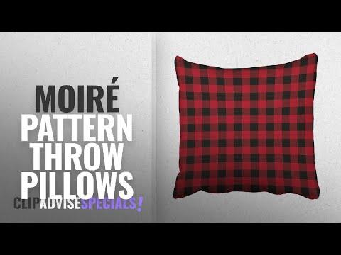 Top 10 Moiré Pattern Throw Pillows [2018]: Emvency Throw Pillow Covers Red Black Buffalo Plaid
