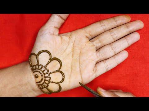 Easy Simple Mehndi Design For Front Hand   आसान शेडेड अरेबिक मेहंदी डिज़ाइन लगाना सीखे   Mehndi