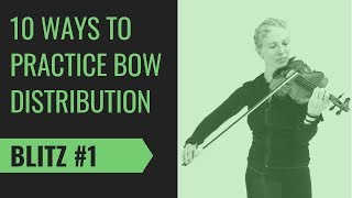 Violin Bow Distribution #1 Warm Up Exercise