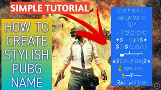 How to add symbols to your name in pubg mobile   Stylish Name in PUBG   gamer flirty